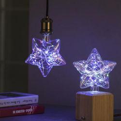 Fio de Cobre Star-Shaped Lâmpada LED de luz