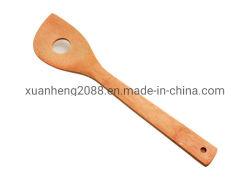 De lange Houten Lepel van het Bamboe van de Lepel van het Handvat Houten Natuurlijke