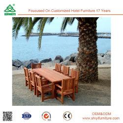 Piscine extérieure de chaises de salle à manger table à manger