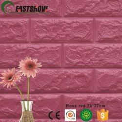 Papier peint autoadhésif XPE mousse 3D pour la maison de brique décoration murale