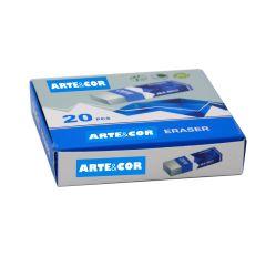 Custom школы управления карандашом белой резиновой Eraser