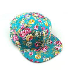 Commerce de gros plat Floral Brim Casquette de baseball Snapback de fantaisie Hat chapeau de cowboy