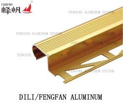 装飾の物質的なフロアーリングのアクセサリはタイルのトリムの転移の角度の端をきつく締める