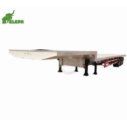 3 Essieu Super Vente : 17,5 - 40 m de longueur de tuyau extensible Wind-Blade Lowbed Remorque pour le transport de tubes