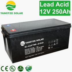 12V recargable de batería de plomo ácido regulado de la válvula por 250Ah