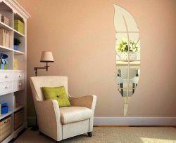 [فكتوري بريس] لصوق أكريليكيّة ريش مرآة جدار يسكن لاصق زخرفة