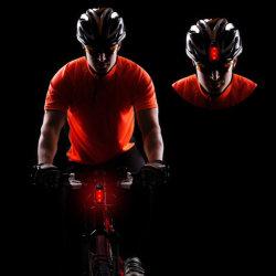 Indicatore luminoso d'avvertimento della coda della bici della torcia elettrica della clip LED di sicurezza esterna dei 5 LED per il riciclaggio corrente di sport