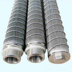 Ss 301/316 titane plissé de gaz liquide vapeur Élément filtrant fritté