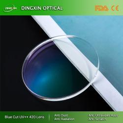 1,56 coupe bleue HMC UV420/Shmc lentille optique
