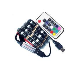 DC5V СВЕТОДИОДНЫЙ ИНДИКАТОР USB газа 5050 RGB гибкая лампа 1m 2m телевизора подсветка RGB LED газа клейкой ленты IP20, IP65 водонепроницаемый