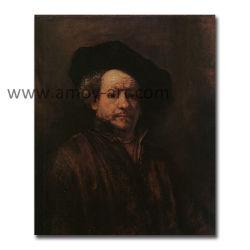Rembrandt artesanais Retrato pinturas a óleo para Decoração de parede