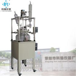 大規模の実験室の産業真空のガラスリアクター100L