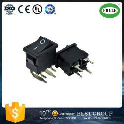 Interrupteur à bascule avec interrupteur à bascule à 4 broches, avec LED, quatre pieds de la jambe devenir voilé, de l'interrupteur de la plaque 21 * 15 mm 90 degrés de plier le pied 1 Formulaire sans un interrupteur