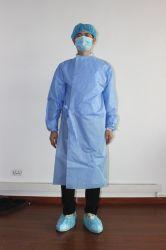 De PP+PE resistente a fluidos Robes de Isolamento do fato de protecção / / desgaste de protecção