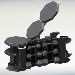 Verstellbare Multi Bench mit Hantel Rack Bauch Bank Home Gym Sitzbank (AXD-D107)