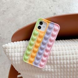 [لوّتك] يعيش إجهاد هاتف علبة ل [إيفون] 12 محبّ قلب ففاز في هذه الحالة جهاز iPhone 11 PRO Max علبة سيليكون ناعمة فقاعة لهاتف iPhone 13