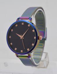 Leopard-Druck-Uhr-Frauen der Regenbogen-Form-Dame-Uhren