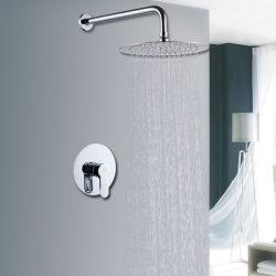 隠されたシャワーは20cmのにわか雨の黄銅の口をセットした