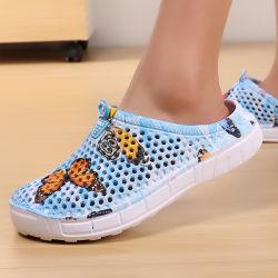 Die beiläufigen Klotz-steuern Breathable Strand-Sandelholz-Valentinsgruß-Hefterzufuhr-Sommer-Beleg 2019 Frauen auf Frauen-Flipflop-Schuhen Schuhe für Frauen automatisch an