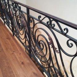 Роскошные старинные декоративные подписи по кривой для использования внутри помещений из кованого железа лестницы конструкций ограждения