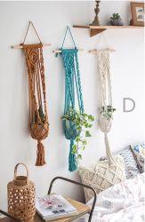 Handmade corde de coton des pots de fleurs décoratives Macrame plante le décor d'accueil de cintres Boho Wall Art détenteur de semoir semoirs Panier Wall Hanging