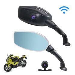 Ecrã de 3 polegadas de duas câmaras de 1080p telefone Smart Remote View Motociclo Dash Câmera Retrovisor do Came
