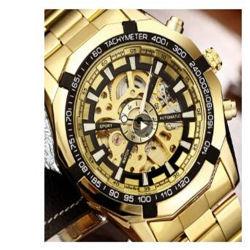 Horloges van de Mensen van de Winnaar van het Horloge van het skelet de Automatische Mechanische Gouden