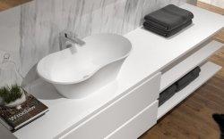 목욕탕 매트 White&Black 아크릴 단단한 세면기 수채