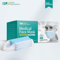 Mesures sanitaires de protection jetables Tie-Masque chirurgical médicaux ou de boucle de l'oreille