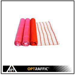 Baustelle-Verkehrssicherheit-Sperren-Ineinander greifen-Zaun-Filetarbeits-Rollentemporärer Plastikzaun