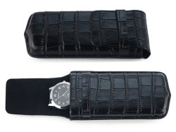Crocoパターン旅行単一の時計ケースのスマートな腕時計の袋PUの革製バッグ