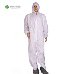 Disposable Coverall, High Visibility Disposable Coveralls, Chemical Protective Coveralls Medical Surgical Nonwoven Protective Coveralls met antistatische Zip