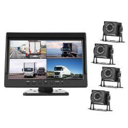 9 インチ 4CH 車両 DVR トラック・カメラ・システム、セミトラック用