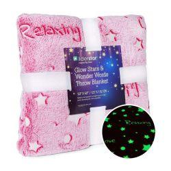 Светятся в темноте фланелевая шикарные подкладка из флиса с малым проекционным расстоянием одеяло детский светлый одеяло розового цвета