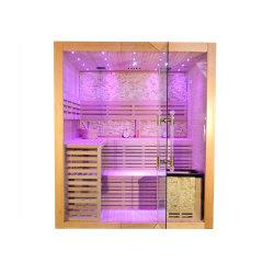Hemlock Cedar Mini Home Sauna en Dry Steam Sauna kamer