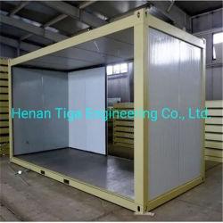 Los materiales de construcción personalizado 20ft/bastidor de 40 pies de la casa contenedor prefabricado sándwich PU