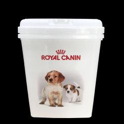 2- 25 kg Pet Food recipiente, cesta de alimentos secos para cães e gatos
