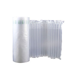 Película de cojín de rollo de material de embalaje protector transparente de 80cm de ancho de envoltura de la columna de aire