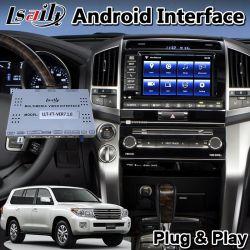 """В Android Market Lsailt видео интерфейс для 2012-2015 год Toyota земли крейсера """"LC200 с помощью системы навигации GPS может поддерживать добавить Carplay"""