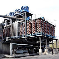 Le Pakistan minerai de chrome usine de lavage de la gravité de la chromite spirale de la séparation des organes de battage