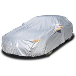 Auto Abdeckung Wasserdicht bei allem Wetter für Automobile Outdoor-Vollabdeckung Rain Sun UV-Schutz mit Reißverschluss aus Baumwolle