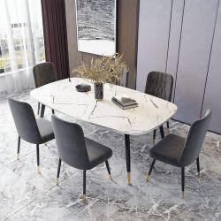 Современный ресторан на заводе домашний ужин Мебель мраморный обеденный стол