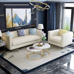 Китай на заводе изготовленный на заказ<br/> прямые оптовые цены на белой ткани кремового цвета Три сиденья диван кушетки Exact