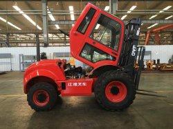 JAC 3.5 ton/Cpcd Terreno áspero montacargas / carretilla elevadora Diesel35R/4WD/cabina/CALENTADOR+Motor Yanmar 98