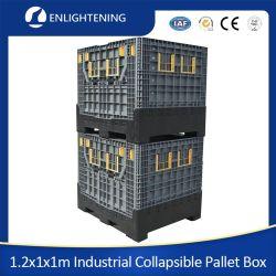 헤비 듀티 맞춤형 산업, 강력한 창고 보관 스택형 Euro Large/Big 기계 부품의 경우 속이 채워진 접기/접이식/접이식 플라스틱 팔레트 컨테이너/상자
