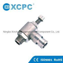Xcpc fabricante do pneumático China fornecedor OEM ROSCA BSPT Controlador de velocidade de envio de metal-rápidas conexões do conector