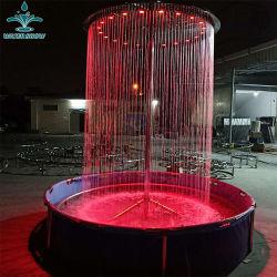 LED rondes de gros de l'intérieur de l'eau de pluie Rideau fontaine cascade