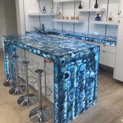 Fournisseur chinois de gros de pierres semi précieuses Grade translucide d'un des comptoirs d'Agate bleu pour la vente