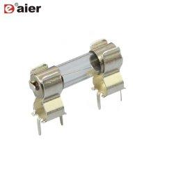 PCB de metal plateado Portafusibles 5x20mm Clip fusible
