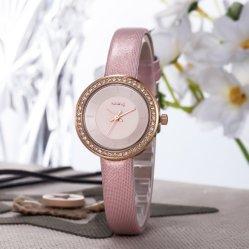 Торговли Assurance очень легкий тонкий камень дамы наручные часы Wy-090
